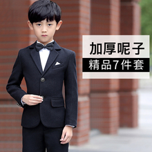 冬式呢fo宝宝西装男t3件套童装宝宝西服花童礼服男(小)孩(小)西装