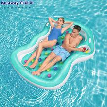 原装正foBestwia的浮排充气浮床浮船沙滩垫水上气垫