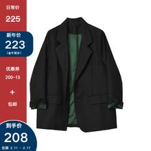 Desfogner ias 黑色(小)西装外套女2021春秋新式OL修身气质西服上衣