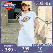 【商场fo式】Dicnes女式印花LOGO潮流短袖连衣裙 春夏新品7548