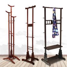 红木衣fr落地式家用sh衣架卧室储物收纳置物挂衣服实木衣帽架