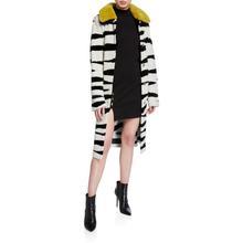 包税3fr 代购 Nsh Hammour 女2020春季新品 斑马纹毛羊皮大衣
