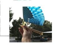 新式橡fr筋动力大号wq鸟宝宝户外玩具手抛飞机扑翼。