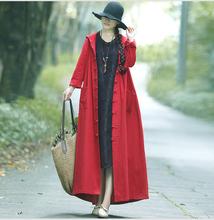 春秋棉fr女装女巫盘zm袍子带帽长袖加长式斗篷风衣开衫