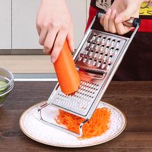 不锈钢fr丝器厨房用zm能切菜机擦丝萝卜丝土豆丝刨丝器擦菜板