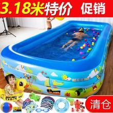 5岁浴ft1.8米游jc用宝宝大的充气充气泵婴儿家用品家用型防滑