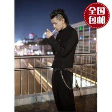 热血高fu源治同式铃ng战袍高腰立领中山服 上衣+裤子套装包邮