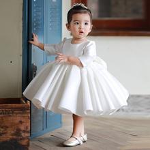 女童礼服宝宝公主裙蓬蓬裙(小)花童fu12纱秋冬ti的走秀演出服