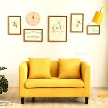 (小)沙发fu室女木沙发ti作室现代简约商务皮艺美甲店双的童装店