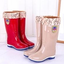 筒靴女防水工作中长款雨鞋