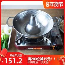 无盖日fu进口珍珠生co气用不锈钢火锅 打边炉 涮锅