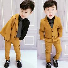 (小)童儿fu男宝西装套co3岁7洋气男宝宝(小)西服男童礼服帅气韩款秋