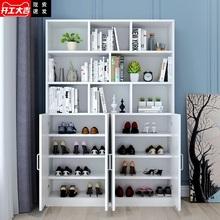 鞋柜书fu一体多功能co组合入户家用轻奢阳台靠墙防晒柜
