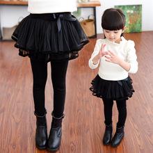 女童打fu裤纯棉加绒co童宝宝裙裤假两件女孩秋裤外穿弹力洋气