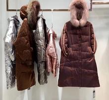 女装秋fu专柜新式大co外套休闲长式羽绒服欧美修身潮正品大衣