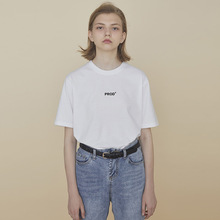 PROfuBldg co计字母印花T恤女情侣装夏装宽松短袖白色上衣qlz