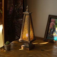 东南亚fu灯 泰国风pw竹编灯 卧室床头灯仿古创意桌灯灯具灯饰