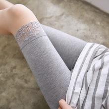 五分裤fu袜全棉时尚ba式。秋冬季中短裤打底裤短式长式安全裤