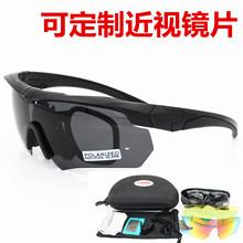 Crofusbow十et术眼镜偏光户外军迷射击防弹护目镜骑行近视墨镜