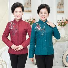 秋冬中fu年大码羽绒yb棉袄    女轻薄中年女装棉衣内胆短式