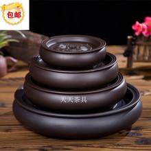 茶海茶fw茶托盘圆形jj水紫砂陶瓷现代简约家用茶具
