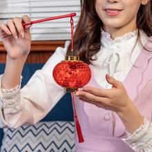 网红手fw发光水晶投gs笼挂饰春节元宵新年装饰场景宝宝玩具