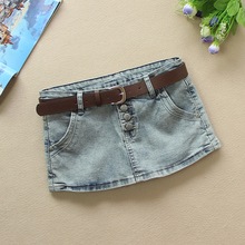 202fw新式牛仔裤pa夏假两件防走光韩款弹力修身显瘦超短裤短裙