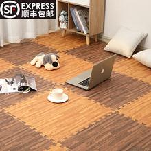 60拼fx地垫铺地泡qj纹地板拼图塑料地毯满铺卧室垫子宝宝防滑