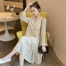 哺乳连fz裙春装时尚dh019春秋新式喂奶衣外出产后长袖中长裙子