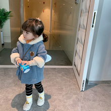 香港靓g3 女童呢大dm洋气冬装 萌宝宝领走~夹棉加厚尼子外套