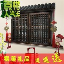 电表箱g8装饰假窗户nt古配电箱电闸y遮挡盒实木创意古典墙壁壁
