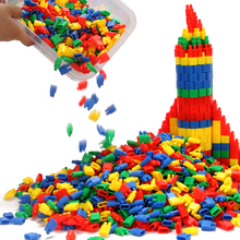 火箭子ga头桌面积木yb智宝宝拼插塑料幼儿园3-6-7-8周岁男孩
