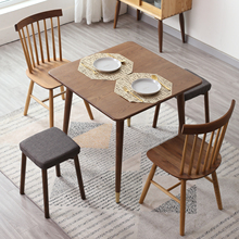 北欧实ga橡木方桌(小)na厅方形组合现代铜脚方桌子洽谈桌