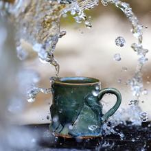 山水间ga特价杯子 pu陶瓷杯马克杯水杯女男情侣复古中国风