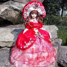 55厘米俄罗ga陶瓷音乐伞ur利亚娃娃结婚礼物收藏家居装饰摆件