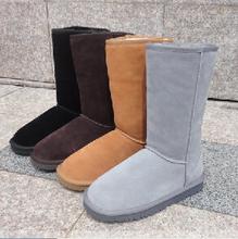 真皮厚毛雪地靴女靴5815 5ga1225 er筒中筒低筒雪地靴LOUTIA