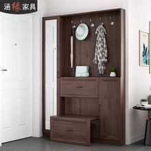 北欧薄ga挂衣柜鞋柜ec用门口玄关柜门厅柜和隔断柜
