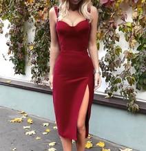欧美风ga装性感宽肩ec艳丽丝绒气质修身开叉连衣裙正式礼服