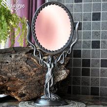 弗丽嘉ga式复古翻转po双面创意可爱(小)台式公主化妆镜梳妆镜