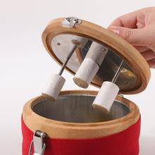 竹制艾ga盒随身灸木et腹部宫寒熏蒸仪器妇科全身热敷包家庭式