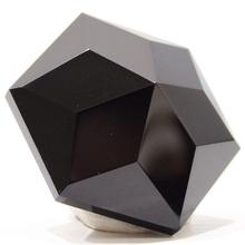 天然黑曜ga1原石水晶et六芒星摆件能量疗愈石头钻石面