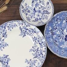 出口英国威基伍德ga5花瓷盘子an彩装饰品餐盘甜品汤碗碟