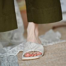 皮厚先生 软到没gb5友 中跟gc拖女一字拖夏季凉鞋女矮跟女鞋
