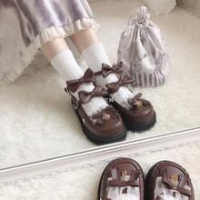 现货【ge闪甜心】官mo 原创lolita平底鞋低跟圆头少女单鞋