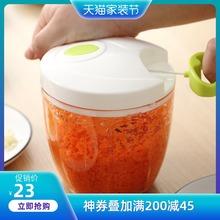 手动绞ge机饺子馅碎mo用手拉式蒜泥碎菜搅拌器切菜器辣椒料理