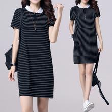 连衣裙ge020新式mo妹妹大码女装200斤韩款宽松显瘦女夏