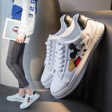 202ge鼠年早春新ce鞋女米奇3D印花运动板鞋学生鞋平底板鞋女