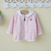 0一1ge3岁婴儿(小)gu童女宝宝春装外套韩款开衫幼儿春秋洋气衣服