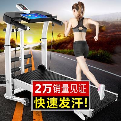 简易健ge器材扭腰家gu式室内跑步机家用式(小)型多功能隔音