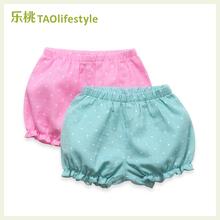 乐桃有ge棉女童夏季hu笼短裤女孩宝宝纯棉灯笼裤婴幼宝宝短裤